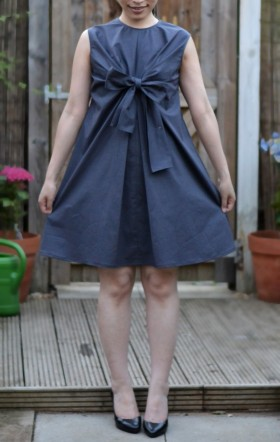 My pattern magic knot bow dress