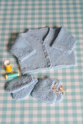 First baby cardigan