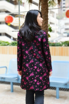 Chinese silk brocade jacket - black version