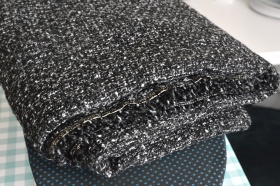 My half price wool / silk tweed fabric
