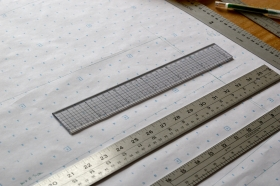 My Muji transparent gridded ruler