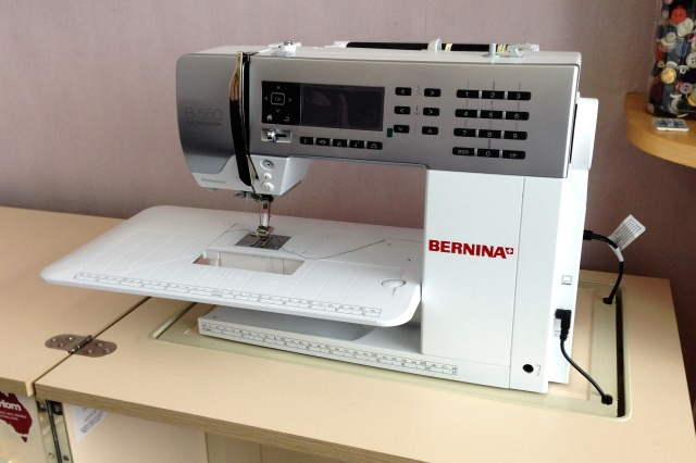 Bernina 550QE - lovely machine to sew with!