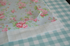 The laminated fabric on top, original cotton duck in the middle and Lamifix at the bottom