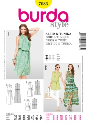 Burda's 7063 wrap dress / tunic pattern