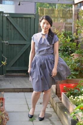 My Colette Sencha Blouse and self draught dirndl skirt